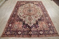 One-of-a-Kind Antique Heriz Serapi Persian Hand-Knotted 7x9 Wool Area Rug image 16