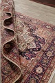 One-of-a-Kind Antique Heriz Serapi Persian Hand-Knotted 7x9 Wool Area Rug image 17