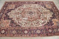 One-of-a-Kind Antique Heriz Serapi Persian Hand-Knotted 7x9 Wool Area Rug image 11
