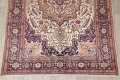 One-of-a-Kind Antique Heriz Serapi Persian Hand-Knotted 7x9 Wool Area Rug image 5