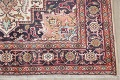 One-of-a-Kind Antique Heriz Serapi Persian Hand-Knotted 7x9 Wool Area Rug image 6