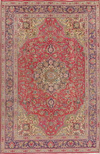 Antique Traditional Floral Tabriz Persian Hand-Knotted 6x10 Wool Area Rug