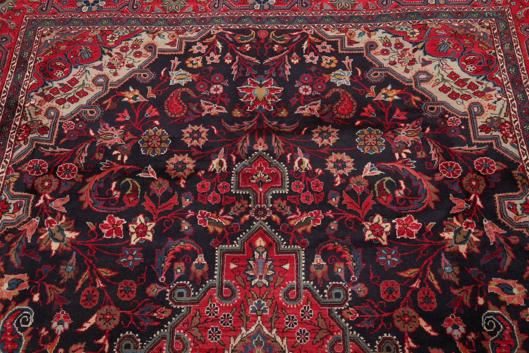 Traditional Floral Kashmar Persian Hand-Knotted 7x10 Wool Area Rug
