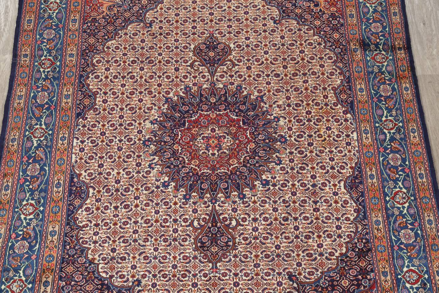 Traditional Floral Mood Persian Hand-Knotted 7x9 Wool Area Rug