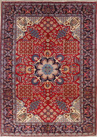 Traditional Floral Najafabad Persian Hand-Knotted 10x14 Wool Area Rug