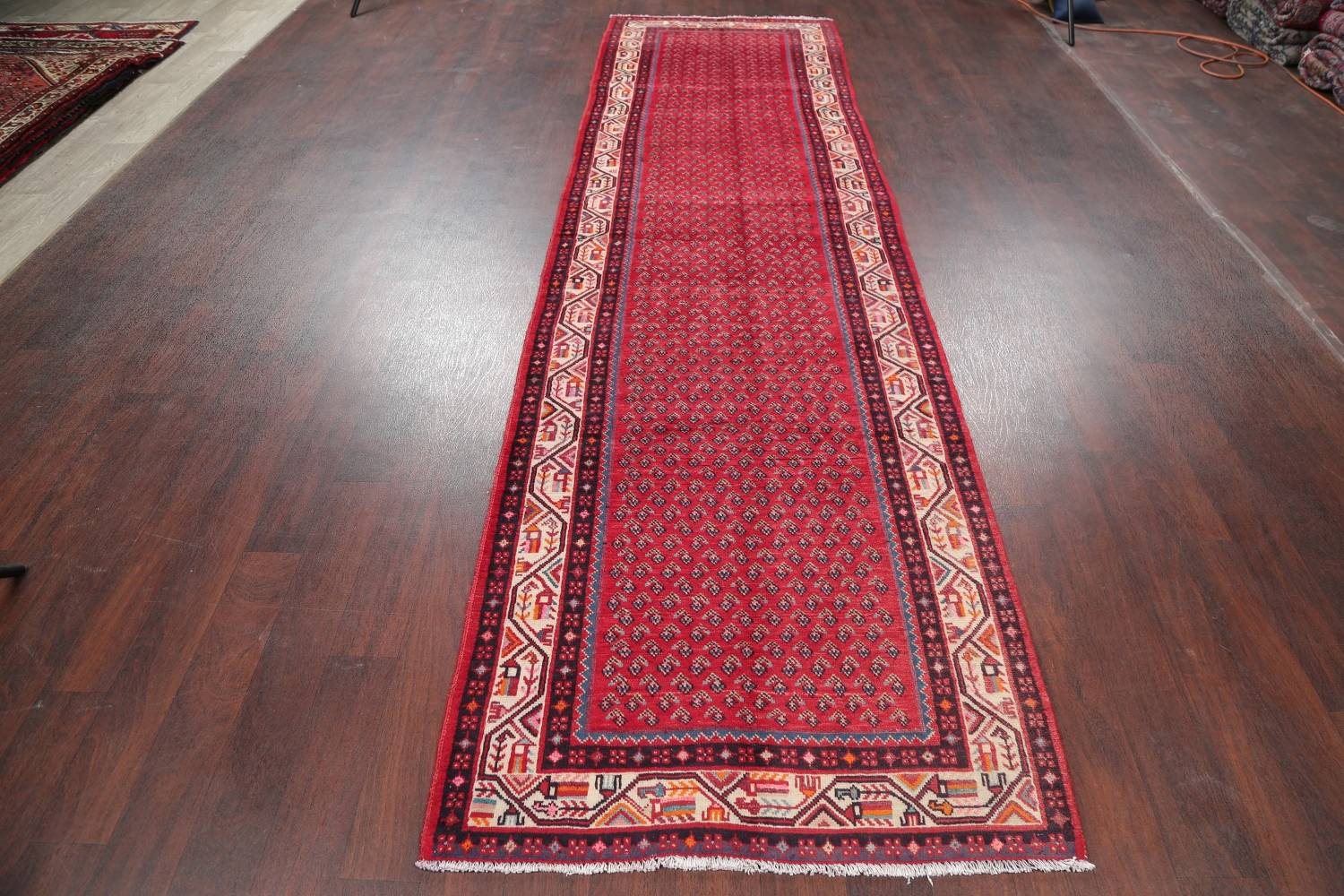 One-of-a-Kind Boteh Botemir Persian Runner Rug 3x13 image 13