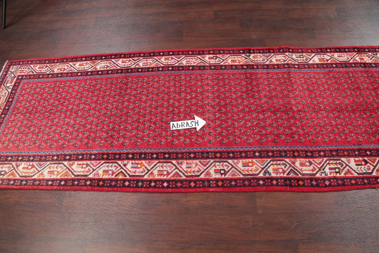One-of-a-Kind Boteh Botemir Persian Runner Rug 3x13 image 10