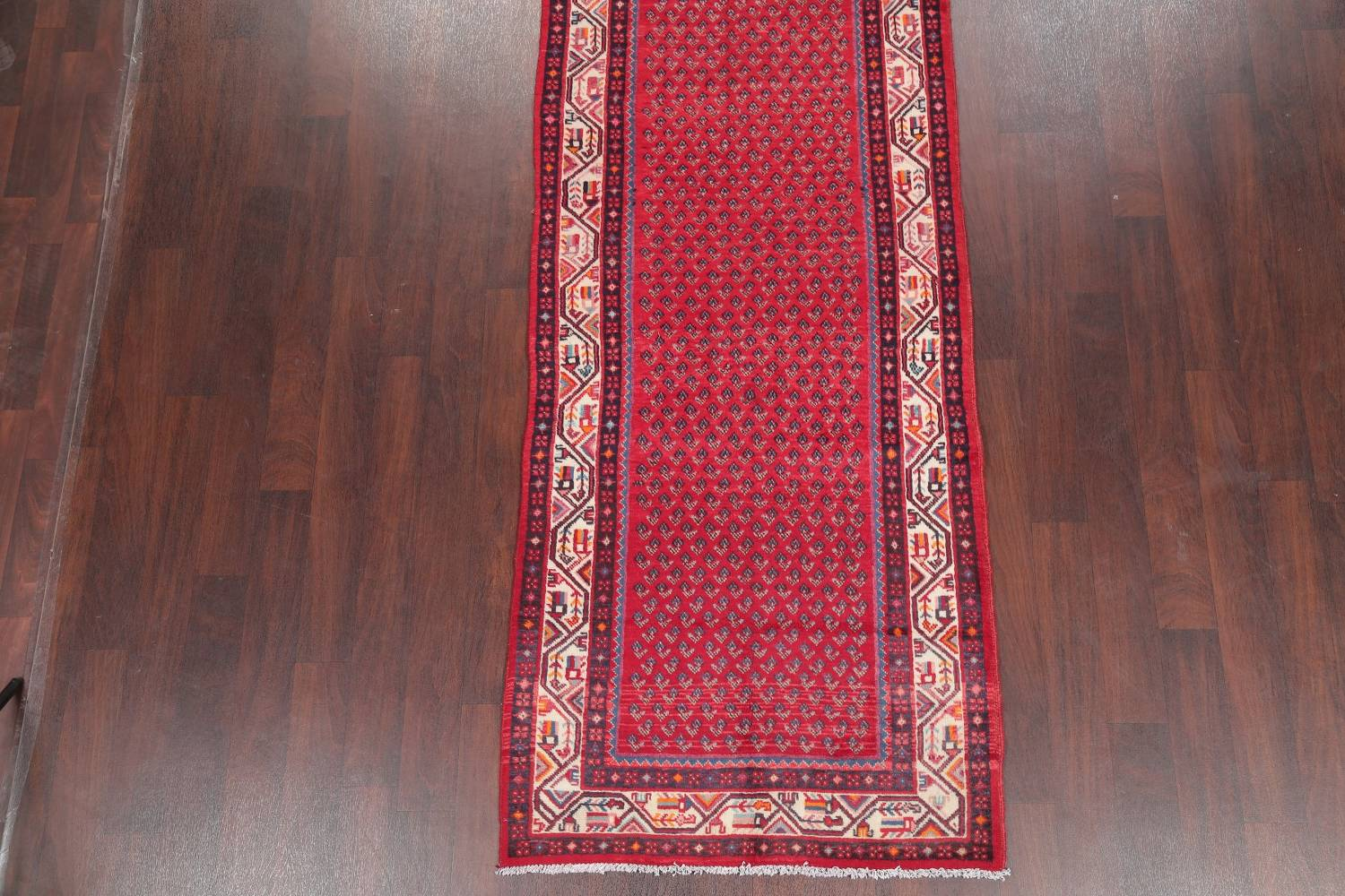 One-of-a-Kind Boteh Botemir Persian Runner Rug 3x13 image 5