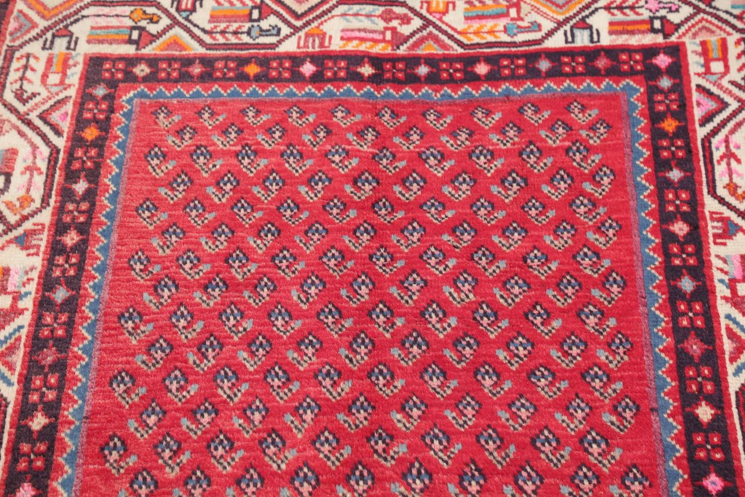 One-of-a-Kind Boteh Botemir Persian Runner Rug 3x13 image 11