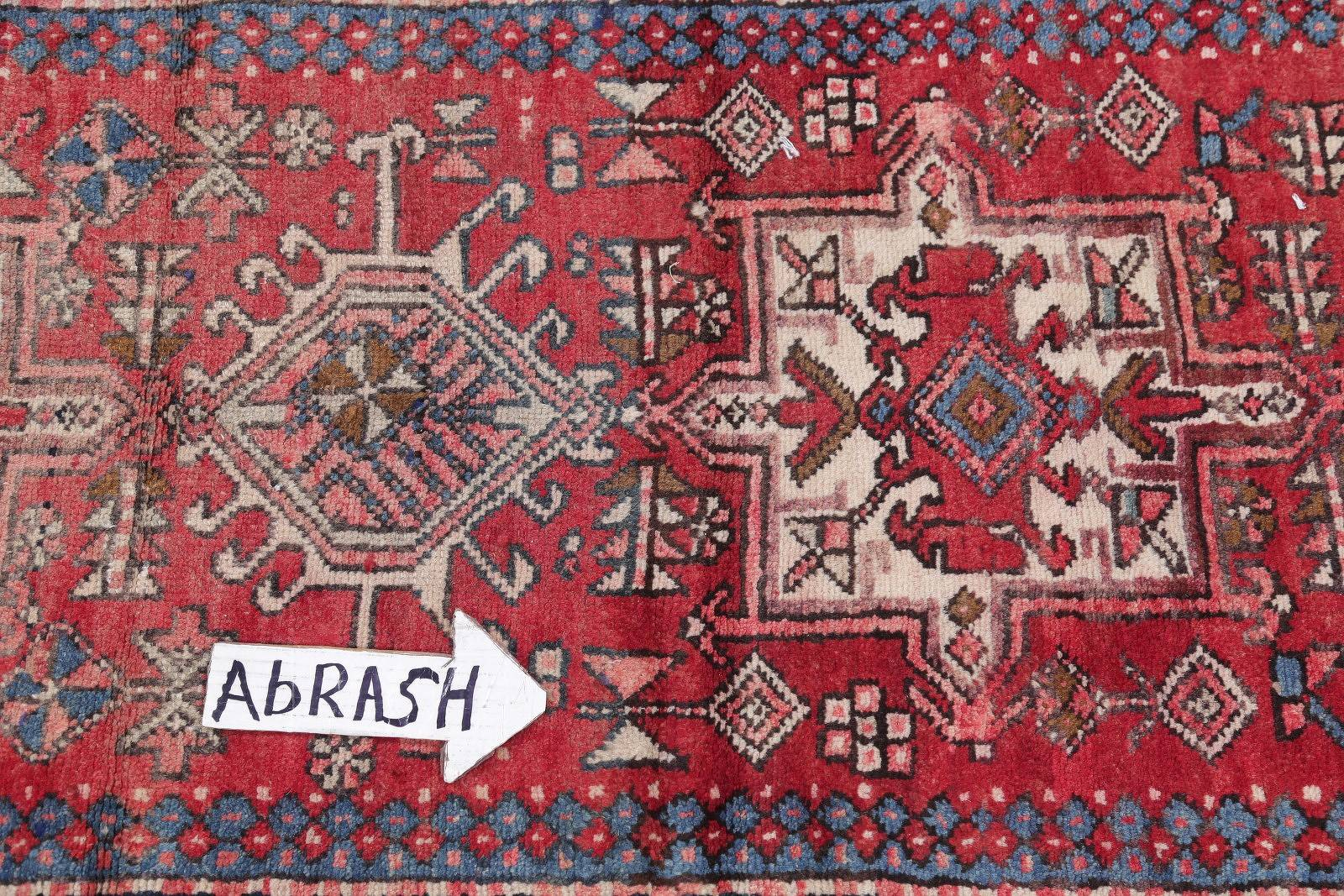 Tribal Antique Gharajeh Persian Hand-Knotted 3x10 Runner Rug