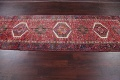 Tribal Red Gharajeh Persian Hand-Knotted 4x11 Wool Runner Rug image 13