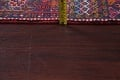 Tribal Red Gharajeh Persian Hand-Knotted 4x11 Wool Runner Rug image 18
