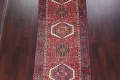 Tribal Red Gharajeh Persian Hand-Knotted 4x11 Wool Runner Rug image 3
