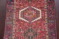 Tribal Red Gharajeh Persian Hand-Knotted 4x11 Wool Runner Rug image 4