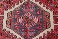 Tribal Red Gharajeh Persian Hand-Knotted 4x11 Wool Runner Rug image 8