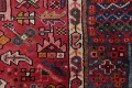 Tribal Red Gharajeh Persian Hand-Knotted 4x11 Wool Runner Rug image 9