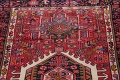 Tribal Red Gharajeh Persian Hand-Knotted 4x11 Wool Runner Rug image 11