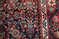 Antique Geometric Mahal Hamedan Persian Hand-Knotted 4x13 Runner Rug image 9