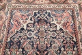Antique Geometric Mahal Hamedan Persian Hand-Knotted 4x13 Runner Rug image 10