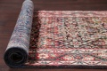 Antique Geometric Mahal Hamedan Persian Hand-Knotted 4x13 Runner Rug image 15