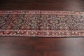 Antique Geometric Mahal Hamedan Persian Hand-Knotted 4x13 Runner Rug image 12