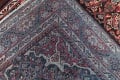 Antique Geometric Mahal Hamedan Persian Hand-Knotted 4x13 Runner Rug image 19