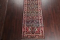 Antique Geometric Mahal Hamedan Persian Hand-Knotted 4x13 Runner Rug image 5