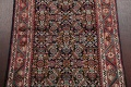 Antique Geometric Mahal Hamedan Persian Hand-Knotted 4x13 Runner Rug image 4