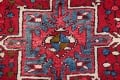 One-of-a-Kind Red Geometric Heriz Persian Hand-Knotted 4x13 Wool Runner Rug image 7