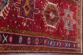 One-of-a-Kind Red Geometric Heriz Persian Hand-Knotted 4x13 Wool Runner Rug image 13