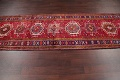 One-of-a-Kind Red Geometric Heriz Persian Hand-Knotted 4x13 Wool Runner Rug image 14