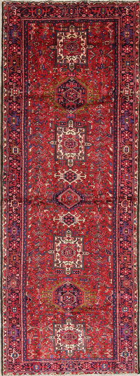 Tribal Gharajeh Persian Hand-Knotted 5x13 Wool Runner Rug