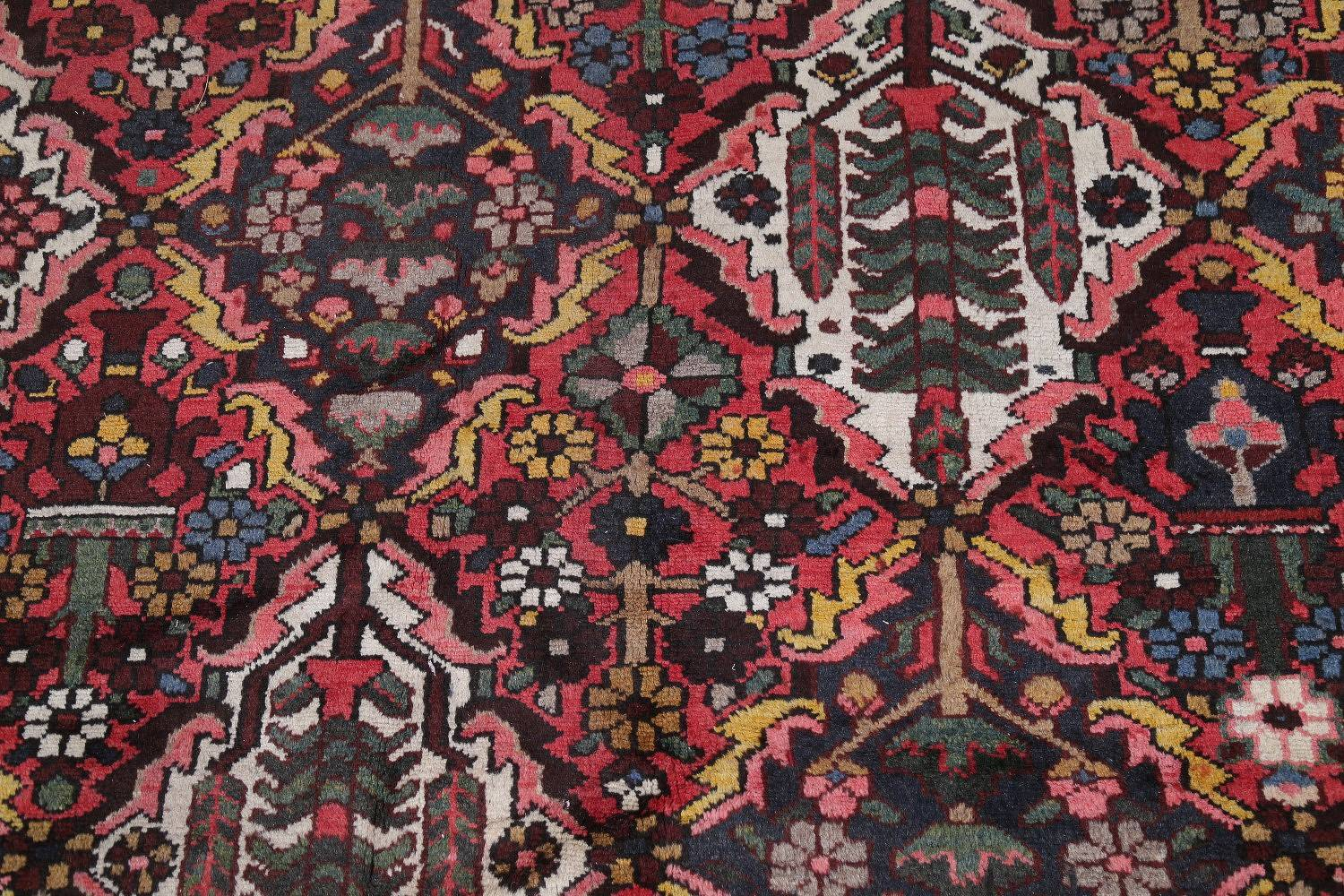 Antique Vegetable Dye Bakhtiari Persian Hand-Knotted 12x15 Wool Rug