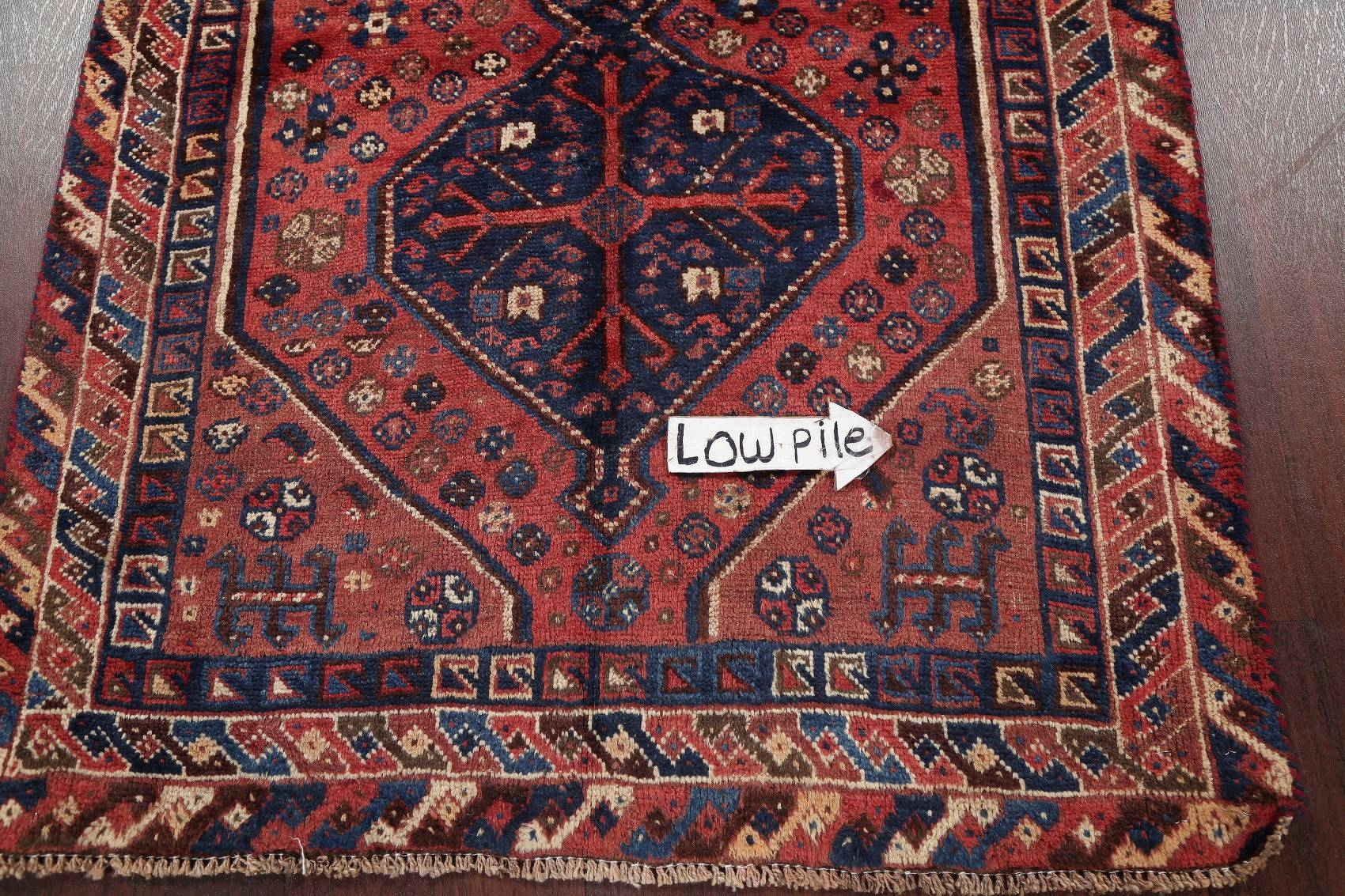 Antique Tribal Lori Persian Hand-Knotted 4x7 Wool Area Rug
