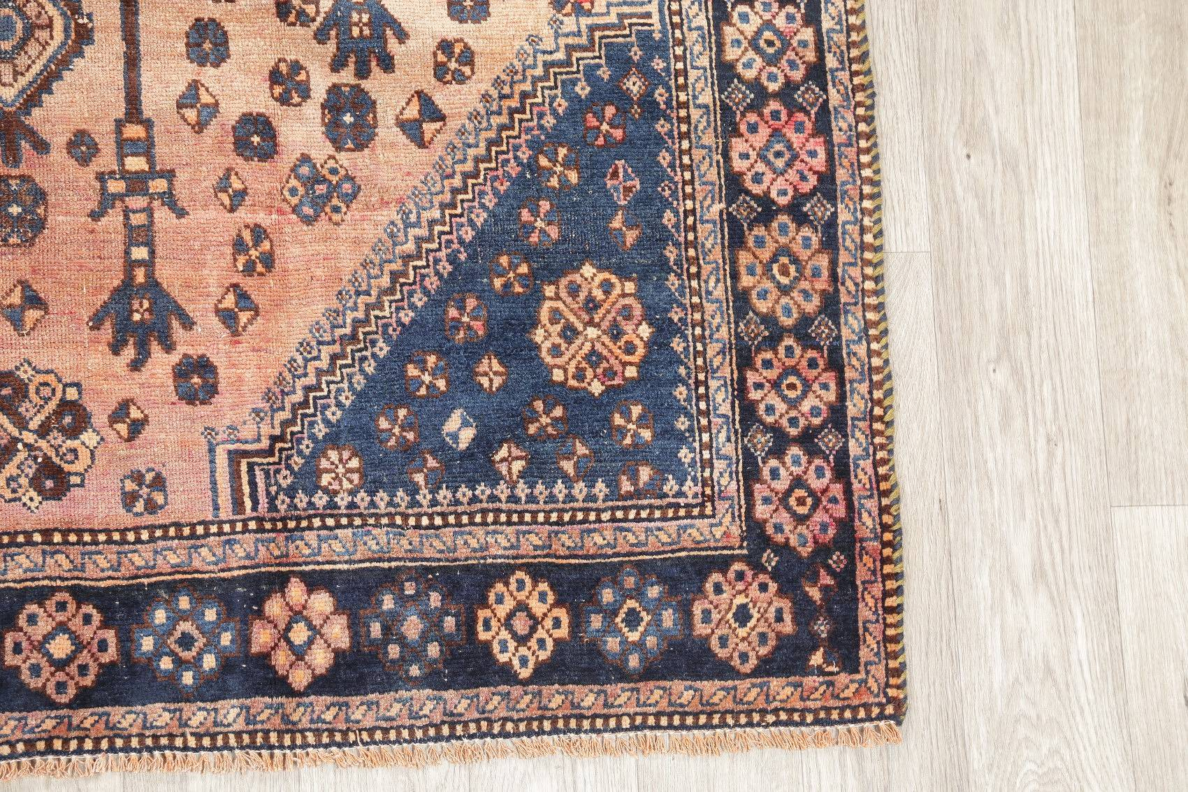 Antique Brown Tribal Afshar Persian Hand-Kotted 5x7 Wool Area Rug