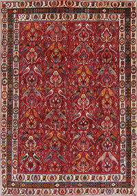 Animal Pictorial Kashkoli Persian Hand-Knotted 7x10 Wool Area Rug