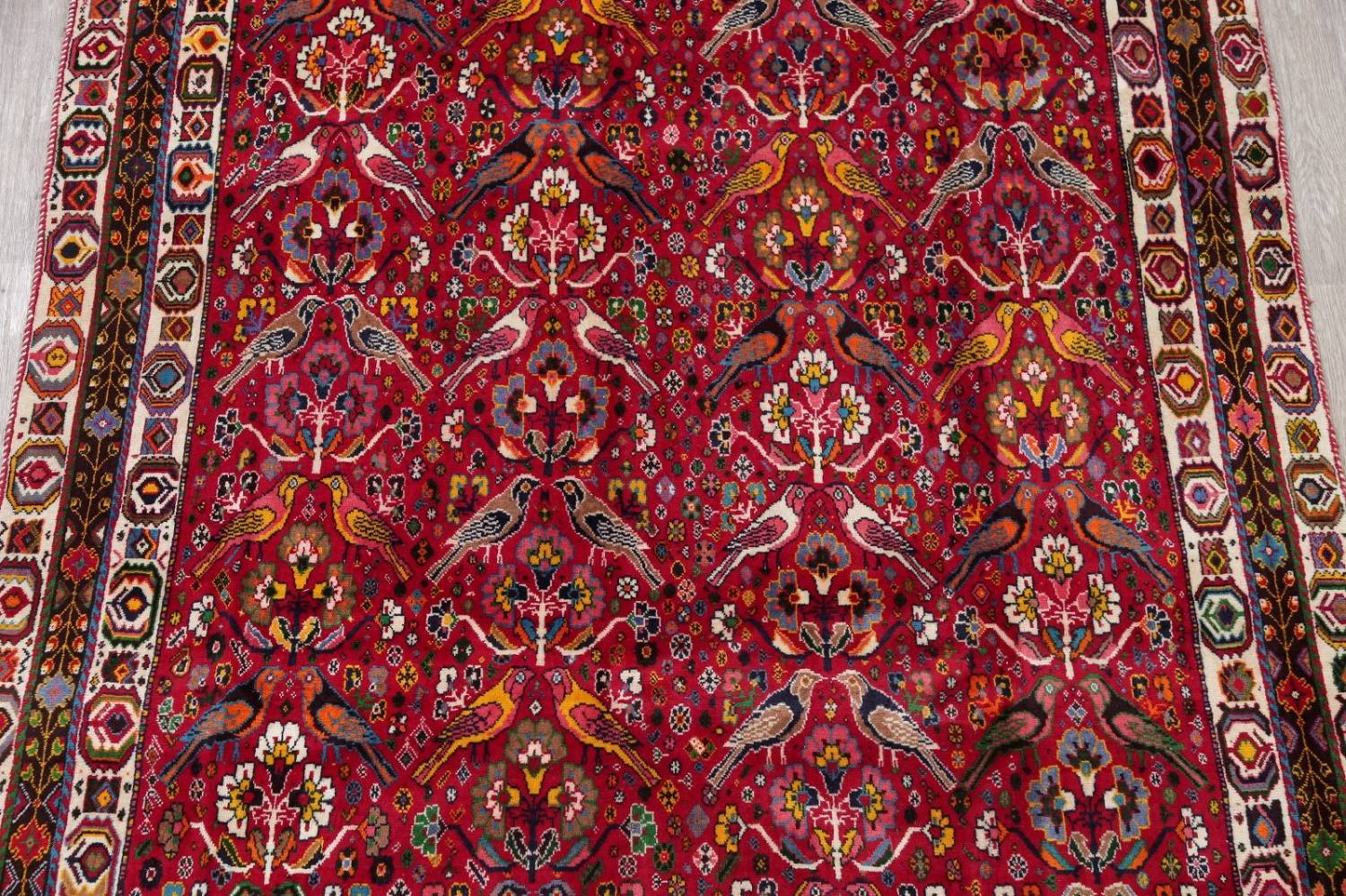 Animal Pictorial Kashkoli Persian Hand-Knotted 7x10 Wool Area Rug image 3