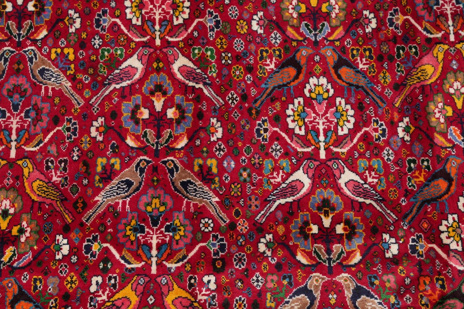 Animal Pictorial Kashkoli Persian Hand-Knotted 7x10 Wool Area Rug image 4