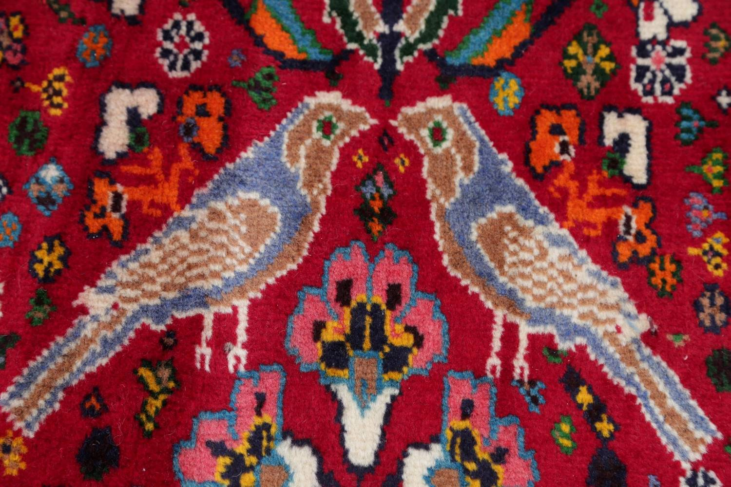 Animal Pictorial Kashkoli Persian Hand-Knotted 7x10 Wool Area Rug image 7