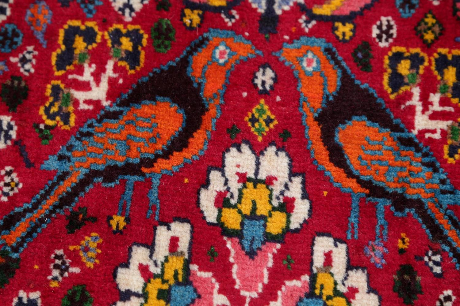 Animal Pictorial Kashkoli Persian Hand-Knotted 7x10 Wool Area Rug image 9