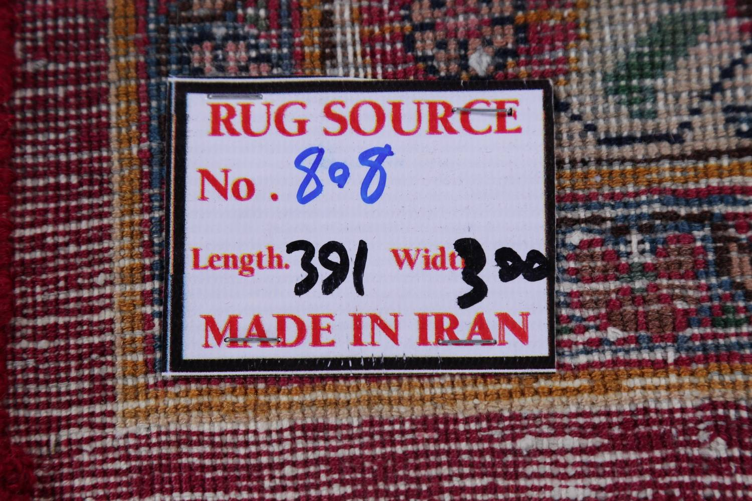 Antique Geometric Mashad Persian Hand-Knotted 10x13 Wool Area Rug image 22