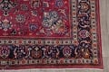 Antique Geometric Mashad Persian Hand-Knotted 10x13 Wool Area Rug image 6
