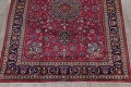 Antique Geometric Mashad Persian Hand-Knotted 10x13 Wool Area Rug image 5