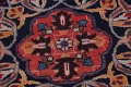 Antique Geometric Mashad Persian Hand-Knotted 10x13 Wool Area Rug image 8
