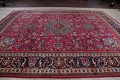 Antique Geometric Mashad Persian Hand-Knotted 10x13 Wool Area Rug image 15
