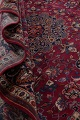 Antique Geometric Mashad Persian Hand-Knotted 10x13 Wool Area Rug image 17