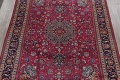 Antique Geometric Mashad Persian Hand-Knotted 10x13 Wool Area Rug image 3