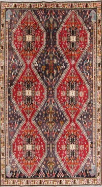 Animal Pictorial Tribal Kashkoli Persian Hand-Knotted 7x10 Wool Area Rug
