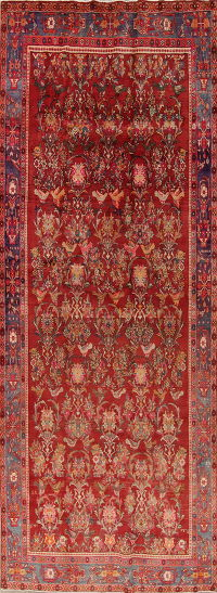 All-over Floral Bidjar Persian Hand-Knotted 6x13 Wool Runner Rug
