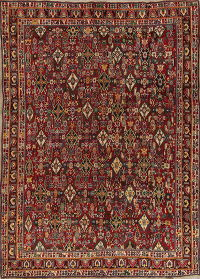 Vegetable Dye Antique Kashkoli Shiraz Persian 7x10 Wool Area Rug